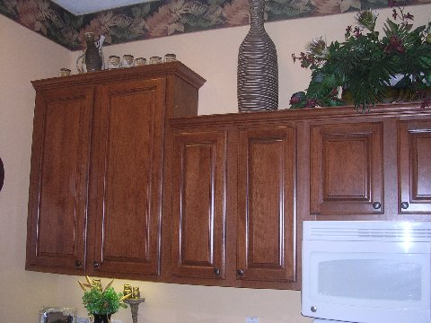 Beautiful wood cabinets after refacing by Kitchen Facelifts