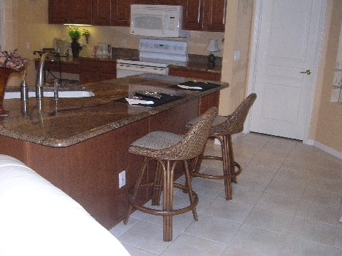 Breakfast bar after refacing by Kitchen Facelifts
