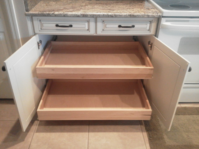 Kitchen Facelifts cabinet refacing with drawer pullouts