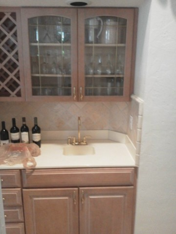 Wetbar before Kitchen Facelifts Kitchen Cabinet Refacing