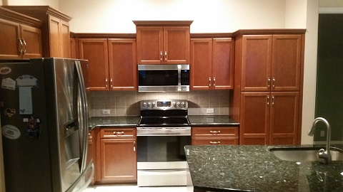 Bon ... Refaced By Kitchen Facelifts Rich Wood Tones Replaced Boring White  Cabinets In This Kitchen Remodeled By Kitchen Facelifts ...